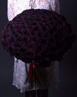 101 Черная Роза (70 см.)
