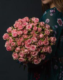15 Розовых Кустовых Роз