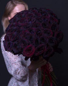 51 Черная роза (70 см.)