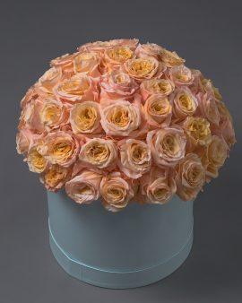 51 Персиковая Роза в коробке