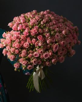 51 Розовая Роза Кустовая