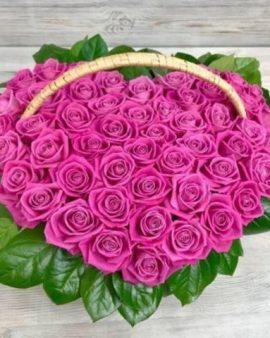 51 Малиновая Роза сердце