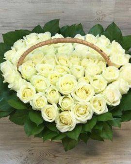 51 Белая Роза сердце