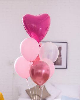 7 Розовых Воздушных Шаров