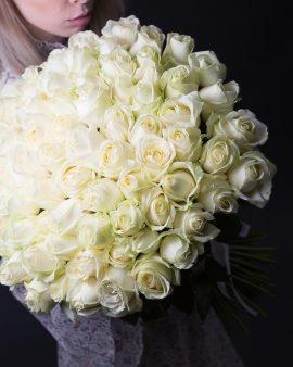 75 Белых Роз Premium (60 см.)