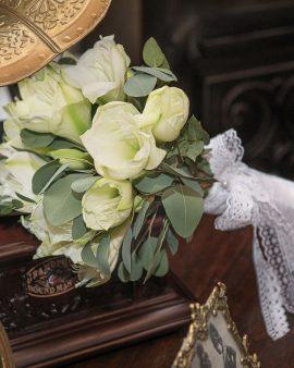 """Букет невесты """"7 Белых Амариллисов"""""""