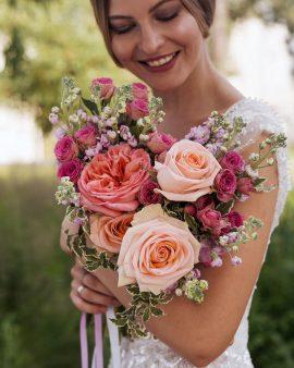 """Букет невесты """"Роза"""""""