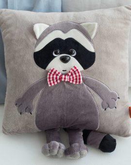 Мягкая игрушка подушка Енотик Дэнни с хвостом