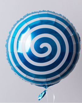 Воздушный Шар Леденец-Спираль Синий