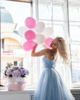 10 Розовых воздушных шаров