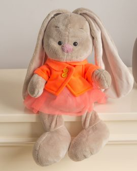Мягкая игрушка Зайка Ми в оранжевой куртке